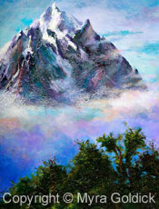 Mountainous - Oil Painting by Myra Goldick