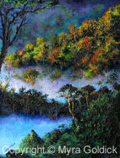 A Misty Morning - Oil Painting by Myra Goldick