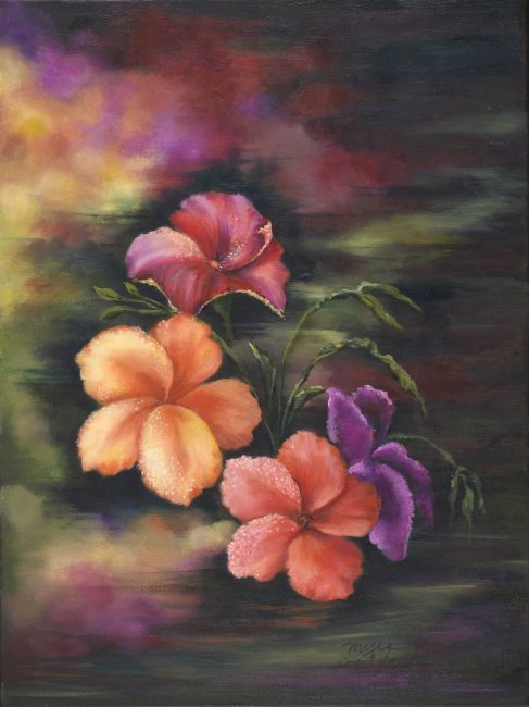 Natural Beauty - Oil Painting by Myra Goldick