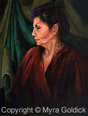 Portrait of Marcia - Acrylic Painting by Myra Goldick