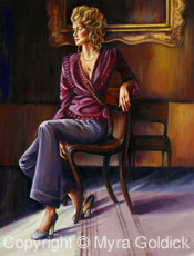 Burgundy Lady by Myra Goldick